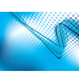 Blue abstract background with halftone vector image