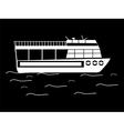 Silhouette walking tour boats vector image