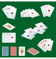 A royal straight flush playing cards poker hand in vector image