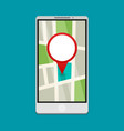 flat gps navigation on phone vector image
