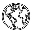 hand drawn monochrome contour of world map vector image