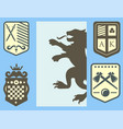 heraldic lion royal crest medieval knight vector image