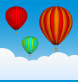 hot air balloons in the sky background with vector image