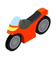 Motorcycle racing isometric 3d icon vector image