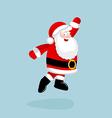 Santa Claus dancing and jumping vector image