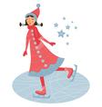 skater girl vector image
