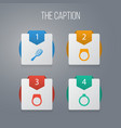 icon instrument set of circle engagement vector image
