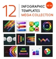 Infographic templates mega collection vector image