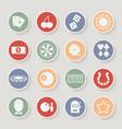 Casino round icons set vector image