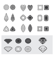 new diamonds set 01 vector image vector image
