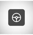 wheel icon steering car circle vehicle vector image
