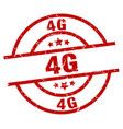 4g round red grunge stamp vector image