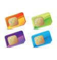 color sim cards vector image vector image