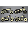 old vintage motorcycles vector image vector image