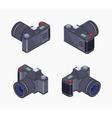 Isometric digital photo camera vector image