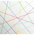 abstract color dot lines background vector image