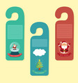 christmas hanger greeting card vector image