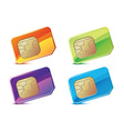 color sim cards vector image