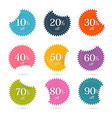 Colorful Discount Labels - Stickers Set vector image