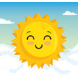 happy sun design vector image