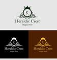 heraldic crest logo vector image