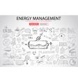 Sketch Concept EnergyManagement vector image