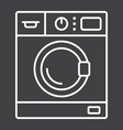 washing machine line icon household and appliance vector image