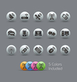 Wireless Comunications Icons Pearly Series vector image