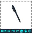Pen icon flat vector image