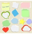 Set of stickers and reminders in different styles vector image vector image