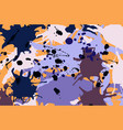purple lilac orange brown ink splashes background vector image