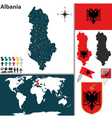 Albania map vector image vector image