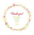 Elegant floral congratulation card vector image vector image