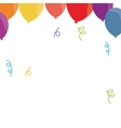 balloon confetti decoration party funny vector image