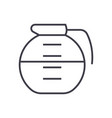 beverage drinks pot line icon sign vector image