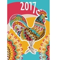 cover calendar 2017 Colorful rooster - the vector image
