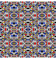 Design colorful seamless mosaic pattern vector image