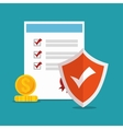 icon policy insurance security design vector image