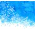 winter background with snowflakes and blue hand vector image