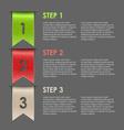 Bookmarks progress steps for tutorial vector image vector image