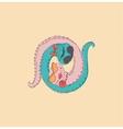 symbol yin yang with snake vector image