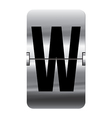 Alphabet silver flipboard letters w vector image vector image