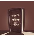 Whats behind that door vector image