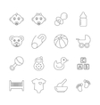 Baby Line Icons vector image vector image