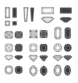 new diamonds set 02 vector image vector image