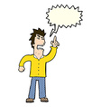 cartoon angry man making point with speech bubble vector image