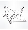Stylized paper crane vector image
