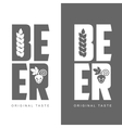 simple logo with the words Beer vector image