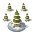 christmas tree in a snowdrift vector image