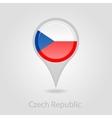 Czech Republic flag pin map icon vector image